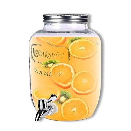 Schramm dispensador de Bebidas Aprox. 3,5 litros con Tapa de Rosca zapfhahnflasche weckglasoptik