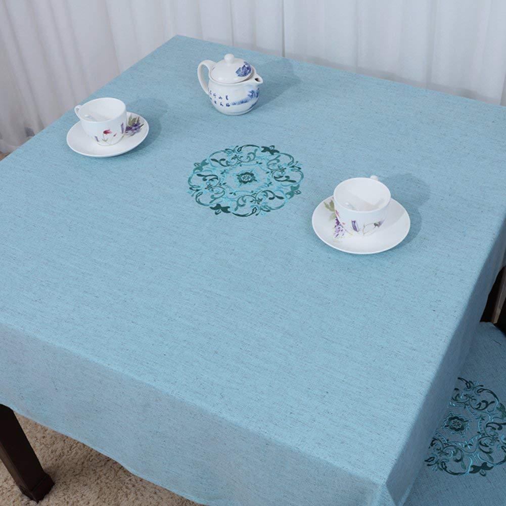 Shuangdeng 田舎のテーブルクロスファブリックTableclothTeaテーブルクロスデスクデスククロス (Color : K, サイズ : 140x190cm(55x75inch))   B07S7B58YH