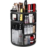 Syntus 360 Rotating Makeup Organizer, DIY Adjustable Bathroom Makeup Carousel Spinning Holder Rack, Large Capacity Cosmetics