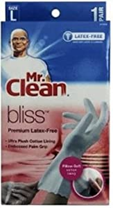 Mr. Clean Bliss Premium Latex-Free Gloves, Large 1 pr (Pack of 4)