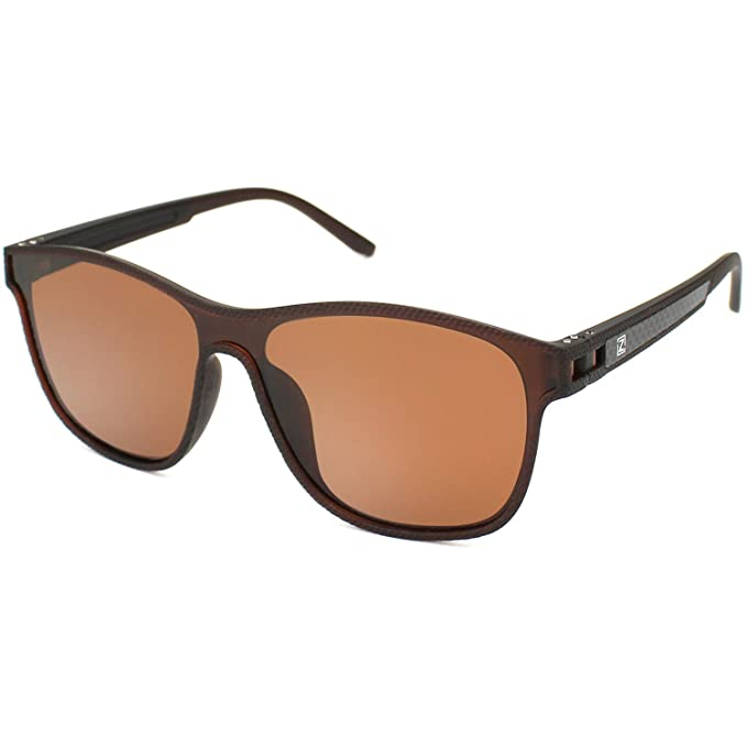ZENOTTIC Guay Gafas de Sol para Hombres Mujeres Polarizadas Wayfarer Anteojos 1 Pieza Lente TR90 Monturas
