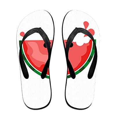 Creative Sweet Watermelon Funny Pattern Unisex Fashion Beach Flip Flops Sandals Slippers Sandal For Home & Beach
