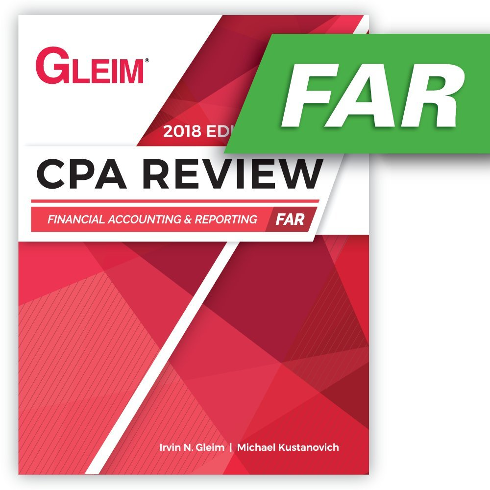CPA Review Financial 2018: Irvin N  Gleim: 9781618541499