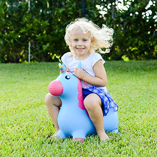 Kiddie Play Hopper Ball Unicorn Inflatable Hoppity Hop Bouncy Horse (Pump Included) by Kiddie Play (Image #3)