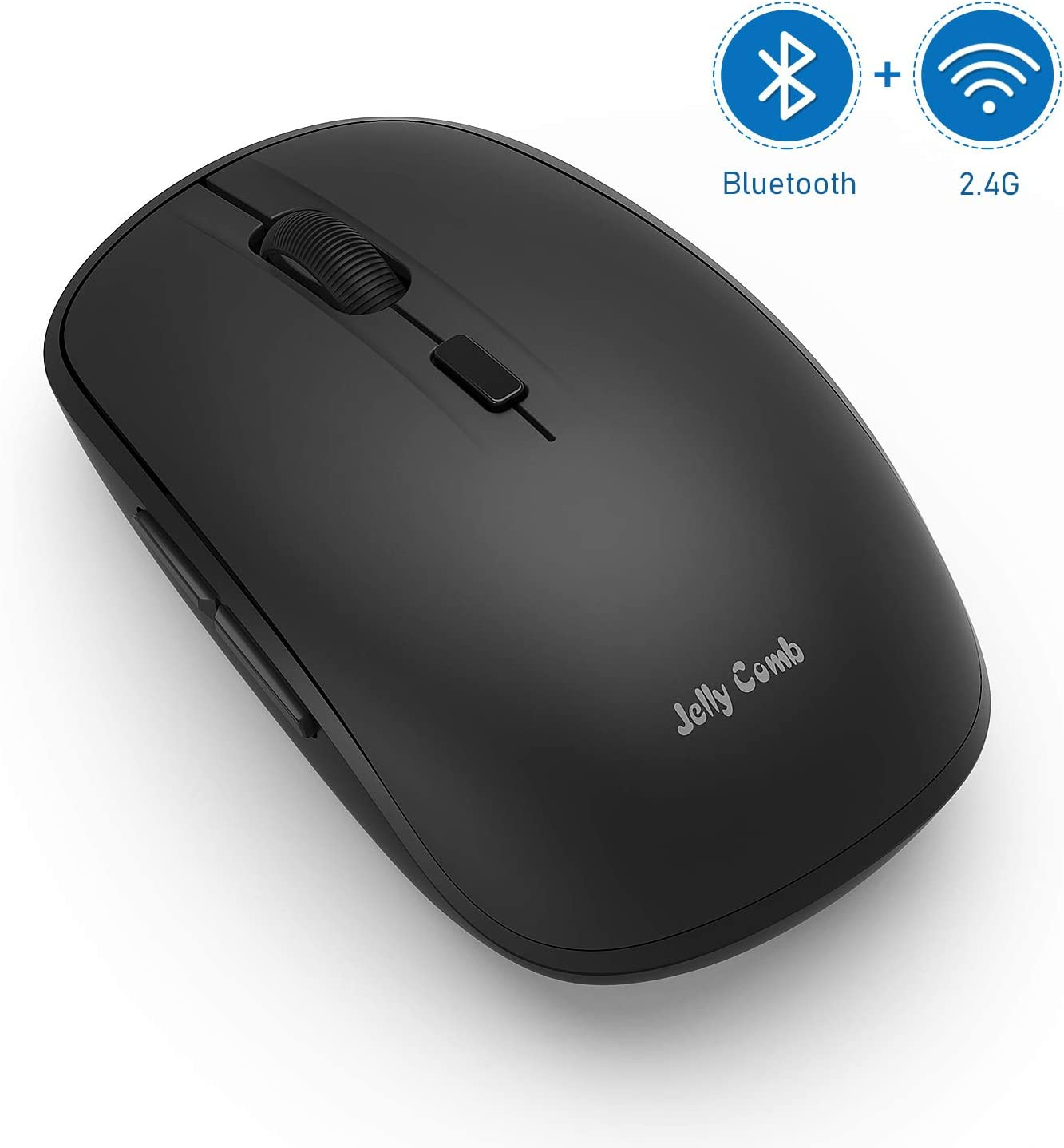 Bluetooth Mouse, Jelly Comb MS023 Wireless Dual Mode (Bluetooth 4.0 + USB) Computer Mice, 3 Adjustable DPI Levels, 6 Buttons Compatible for Windows/iPad/iPhone/Mac OS/Android