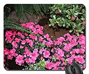 Red Azaleas in my garden Mouse Pad, Mousepad (Flowers Mouse Pad, Watercolor style)