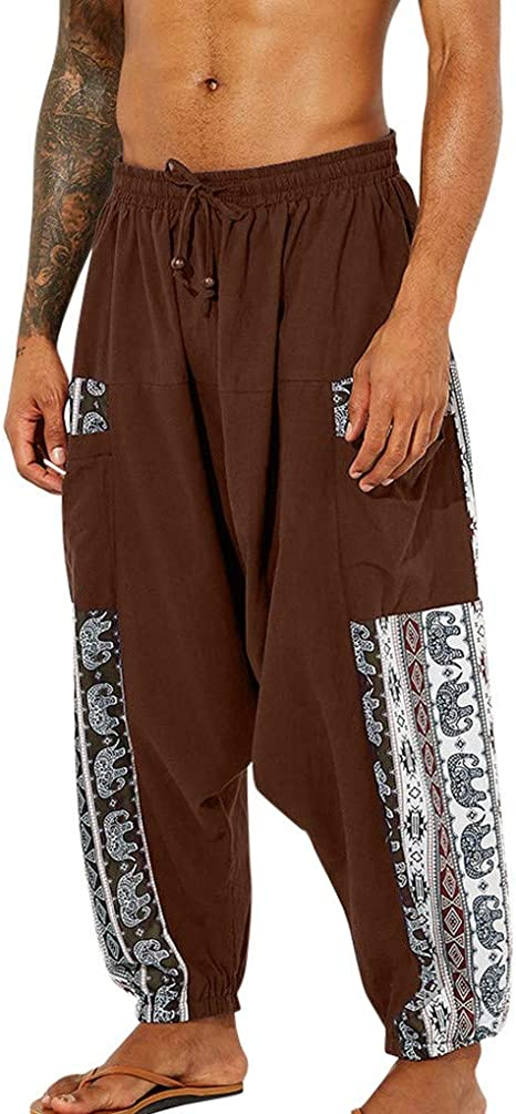 Armfre Bottom Harem Pantalones de yoga para hombre, mezcla de ...