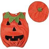 BESTOYARD Disfraz de Calabaza de Halloween para Mameluco con Gorro para bebé niño Infantil - 110cm