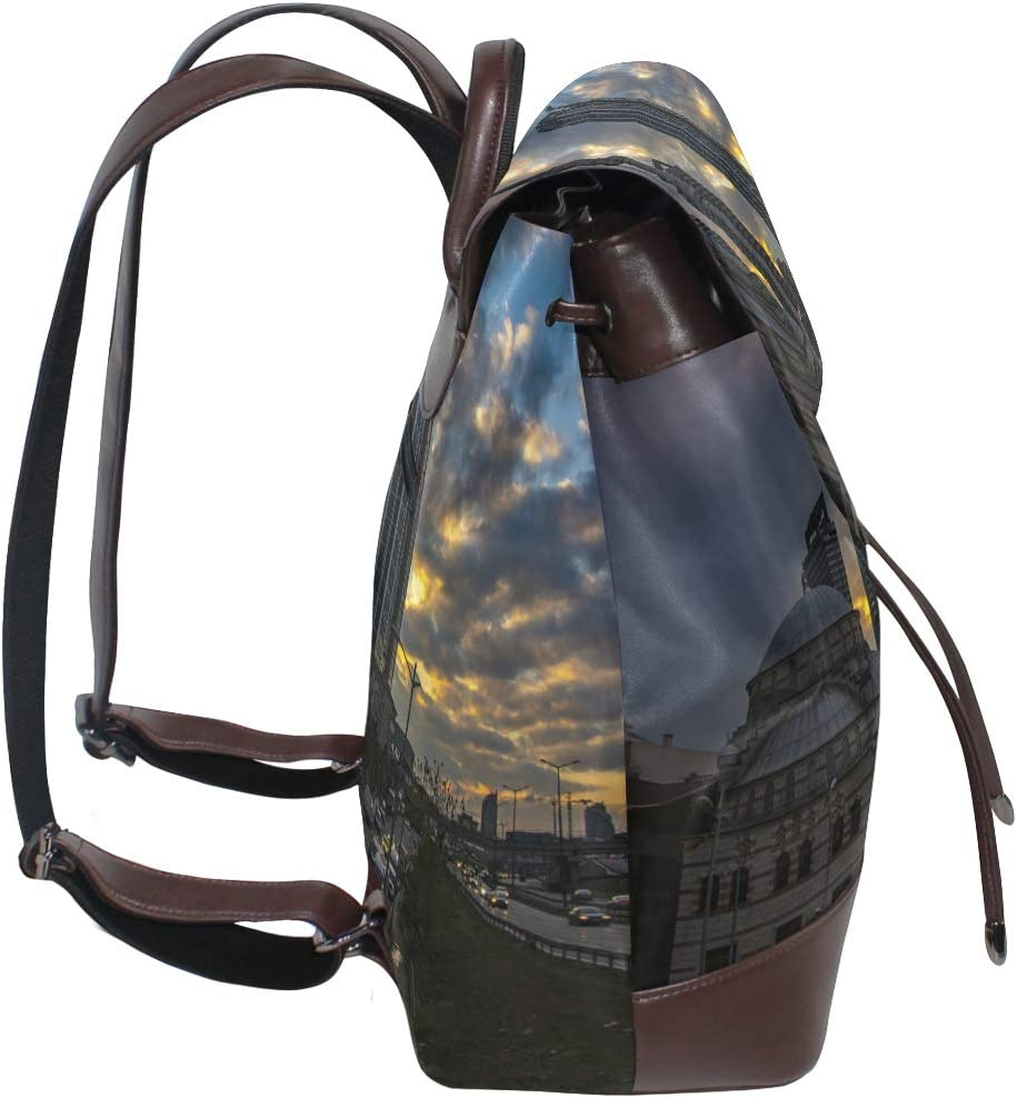 Storage Bag For Men Women Girls Boys Personalized Pattern City In The Sunset School Bag Shopping Bag Backpack Travel Bag