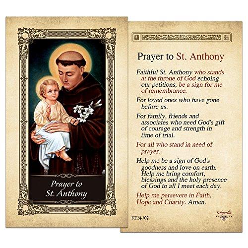 - St.Anthony Laminated Holy Card - Pack of 3