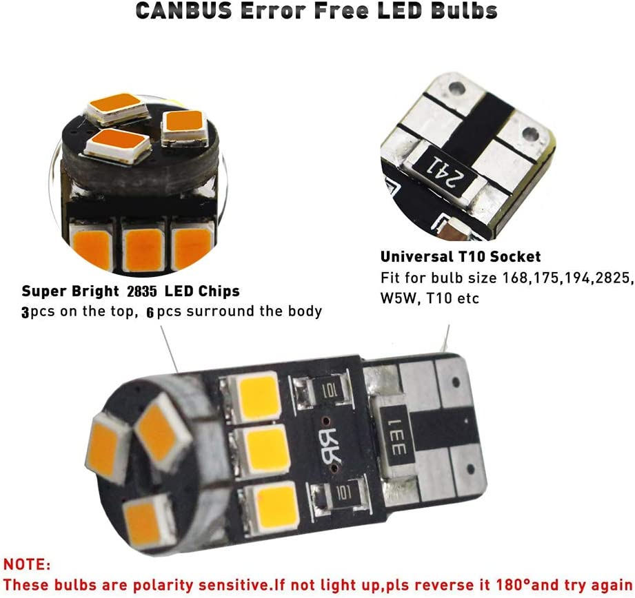 T10//W5W//194 9X HIGH FLUX SUPER WHITE LED INTERIOR DOME//TRUNK LIGHT//BULB//LAMP