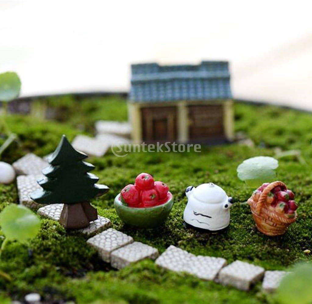 10x Miniature Snails Lover Plant Ornament Dollhouse Pot Fairy Garden Decor