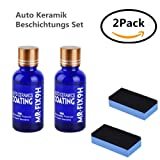 Auto Keramik Beschichtungs Set / Auto Kratzfeste Schutz Polish Nano Keramik Glas Beschichtung Autopolitur Lackpflege (2 pcs)