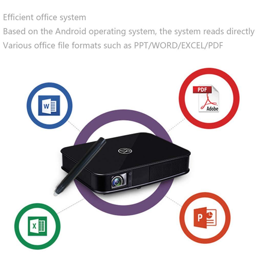 Proyector Elegante de la Oficina de HD, WiFi 2.4 G 5G androide 6,0 Memoria de Bluetooth 2G 16G CPU de Ocho núcleos, Pantalla de proyección en la Oficina sin ...