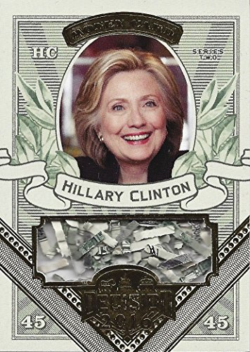 HILLARY CLINTON Leaf Decision 2016 Politcs Series 2 FEDERAL RESERVE SHREDDED MONEY CARD (Democratic Party) Rare Gold Foil Parallel Extremely Rare Collectible Political Trading Card #MO25 from Leaf Decision 2016 (Series 2)