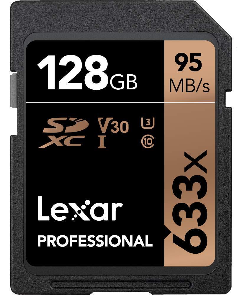 TALLA 128GB. Lexar Professional 633x - Tarjeta de memoria de 128 GB (SDXC, UHS-I)