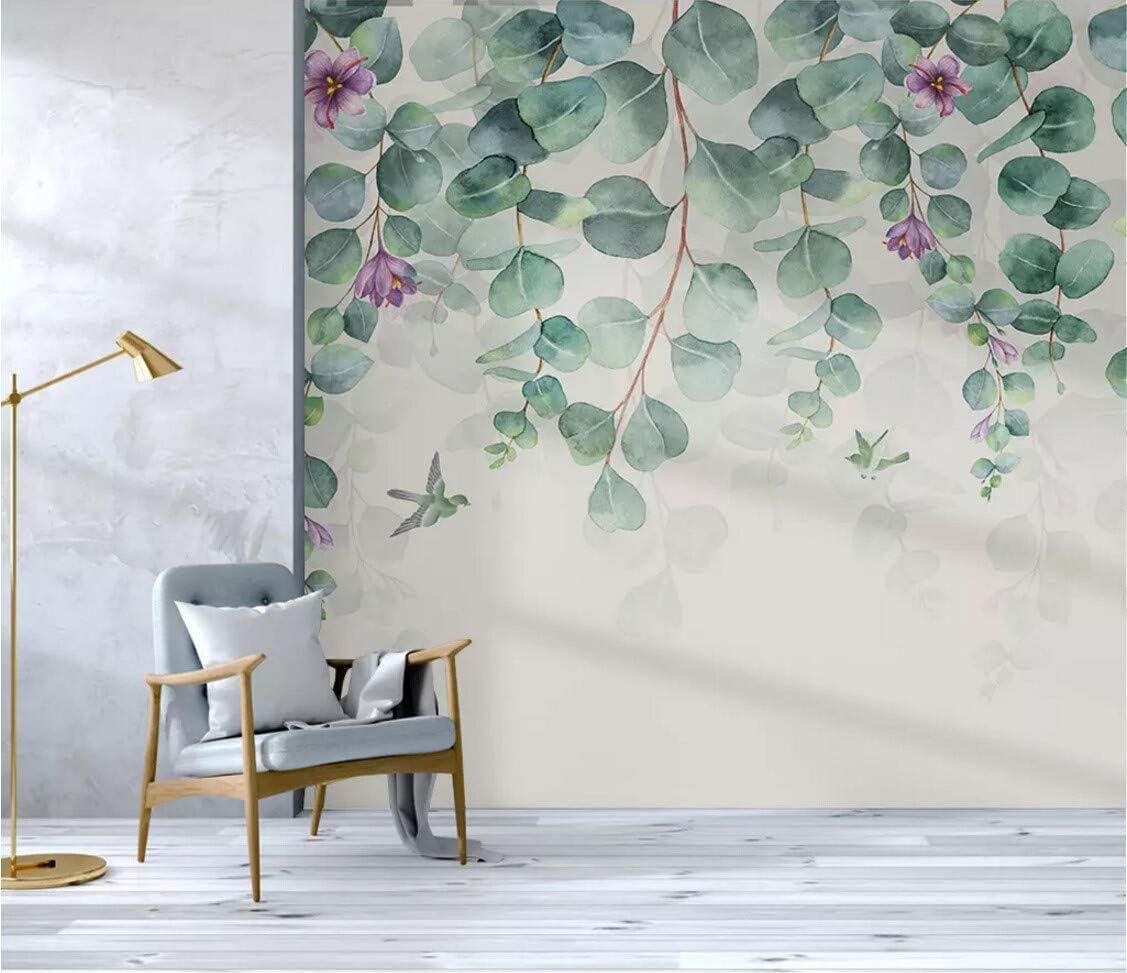 Peintures Outils Et Traitement Des Murs Papier Peint 3d Minimalisme Feuilles Fleurs Papillons Oiseaux Fond Le Salon Chambre Moderne Papier Peint Intisse Decoration Murale Bricolage Hotelaomori Co Jp