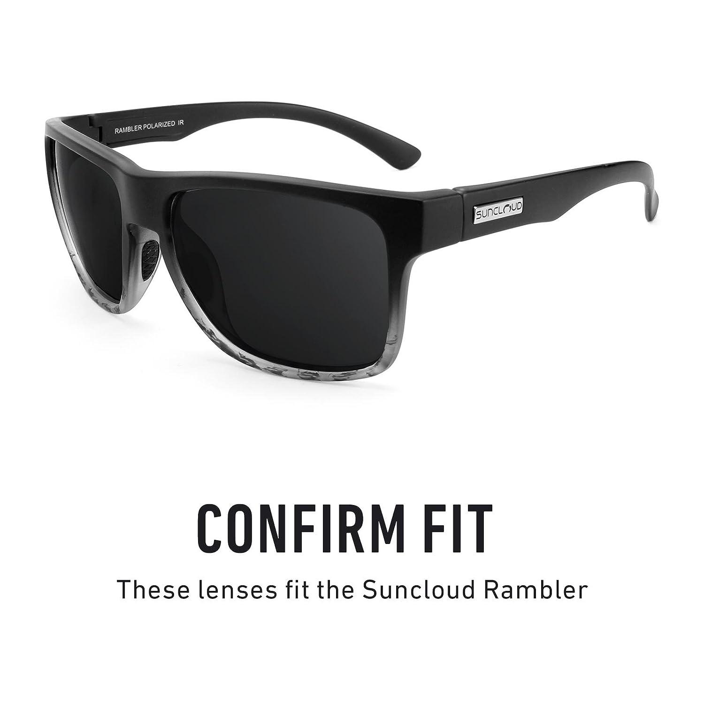 c25e02a437 Amazon.com  Revant Polarized Replacement Lenses for Suncloud Rambler Elite  Black Chrome MirrorShield  Sports   Outdoors