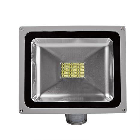 20W 30W 50W 80W Foco proyector con iluminación LED y sensor de movimiento, impermeable IP65