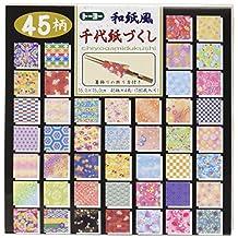 Toyo Reversible Origami Washifu Chiyogami, Ryoumen Chiyogami Zukushi 15cm x 15cm
