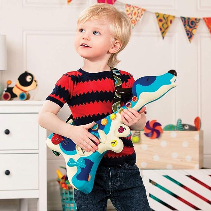B 70.1206 - Woofer Guitarra de Juguete con diseño de Perro: B. Woofer Hound Dog Guitar: Amazon.es: Juguetes y juegos