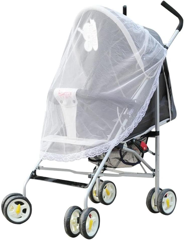 Starnearby Universal Mosquito Net for Stroller,Pushchair,Pram,Buggy,Carrycot and Travel Cot Washable and Durable Mesh Insect Protection Netting