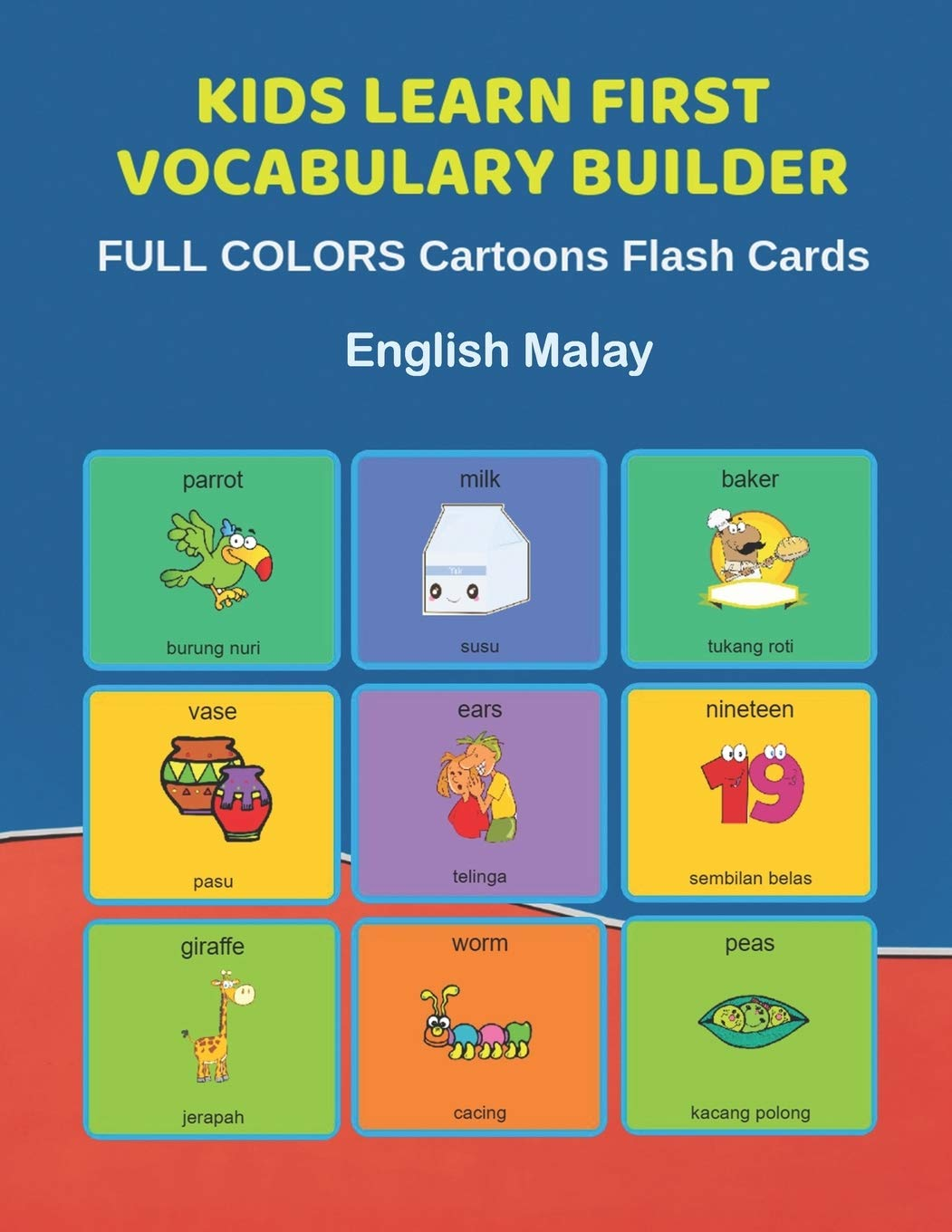 Spanish Picture Word Flash Cards Preschool and Pre Kindergarten learning cards