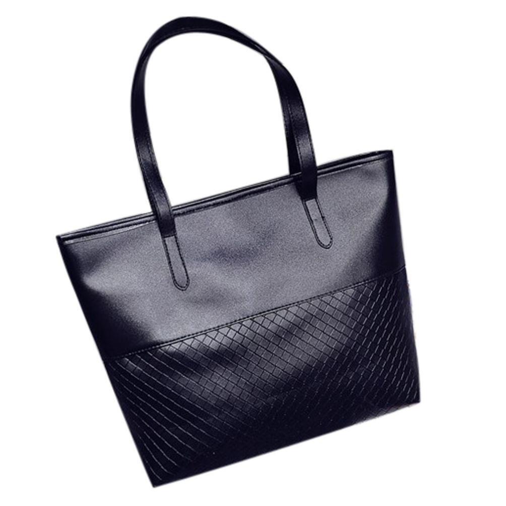 c4af6839e00 Women Handbag Fcostume Shoulder Tote Satchel Large Messenger Bag Purse  (Black): Amazon.co.uk: Shoes & Bags