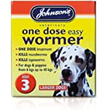 Johnson's One Dose Easy Wormer for Dogs and Puppies, 6 - 40 kg