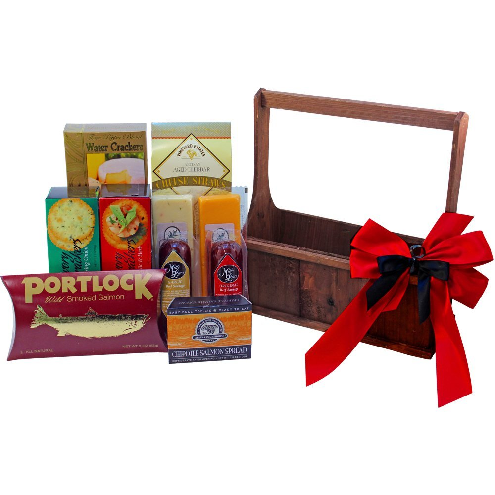 amazon com meat and cheese lovers gourmet food gift basket with