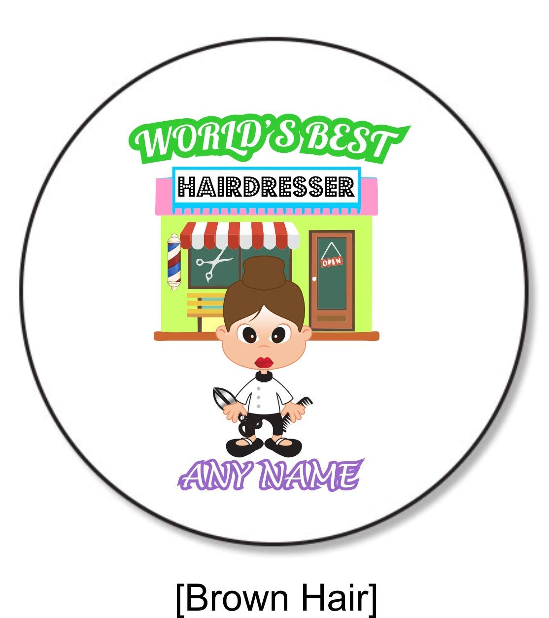 Personalised Gift Worlds Best Barber Hairdresser Coaster Stylist Beautician Hair Salon Work Present Idea For Her