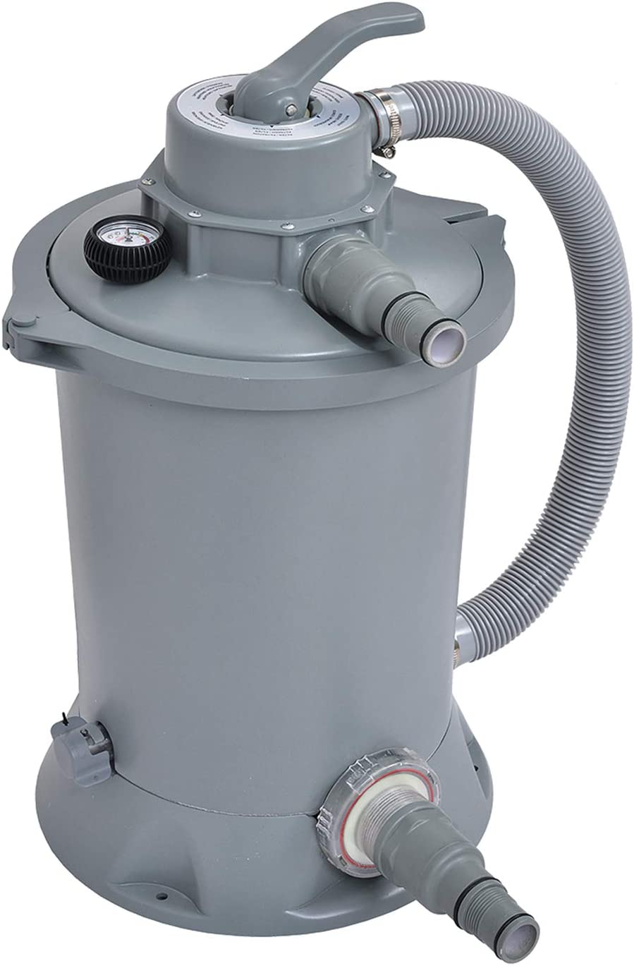 JLeisure Avenli 290730US Clean Plus Corrosion Proof 1000 GPH Sand Filter Pump with Pressure Gauge for Swimming Pools, Hot Tubs, and Spas, Gray