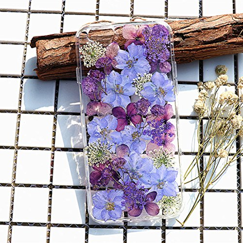 Crystal_phonecase Pressed Dried Flower Real Natural Fresh Handmade Resin Clear Case for iPhone 4 4s 5c 5 5s SE 6 6s 6/6sPlus 7 8 7/8Plus X Xs XR Xs Max (#1, iPhone 7/8 Plus) (Iphone 4s Jeweled Wallet Case)