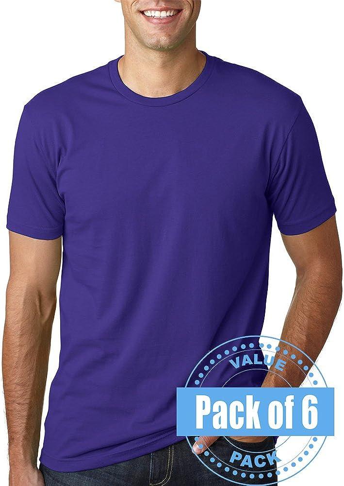 Next Level Mens Premium Fitted Short-Sleeve Crew 3600-Purple Rush 6 Pack