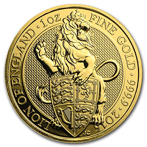 2016 UK Great Britain 1 oz Gold Queen