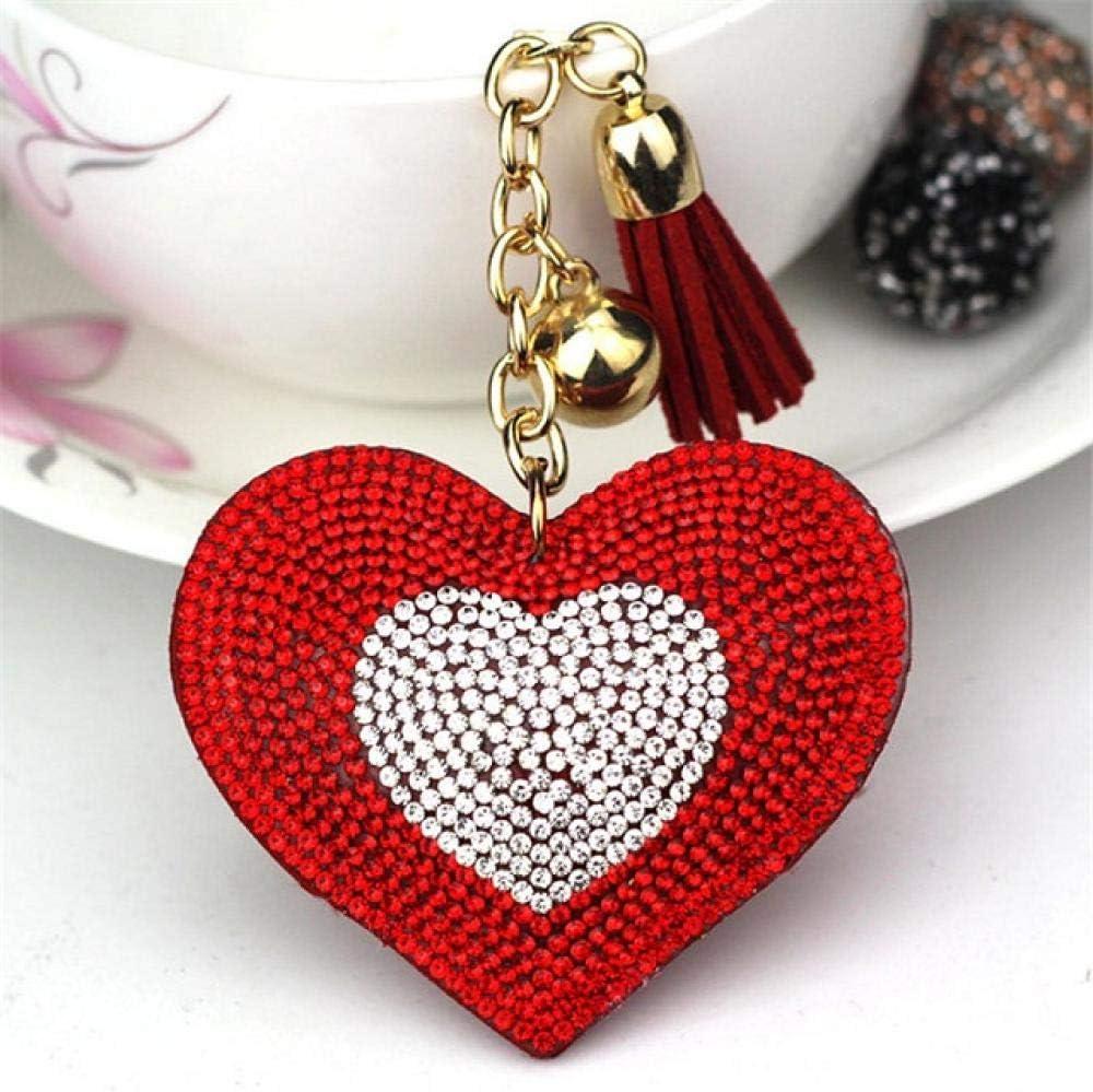 Llaveros para Mujeres Llavero De Cuero Chica S Romántico Diseño De Corazón De Diamantes De Imitación Colgante Llaveros Bolso De Diamantes De Imitación Llavero 9