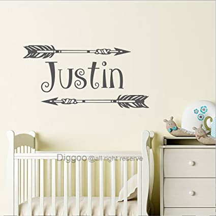 9f528f2d43568 Amazon.com: Personalized Boys Name Wall Decal Kids Wall Decals Boho ...