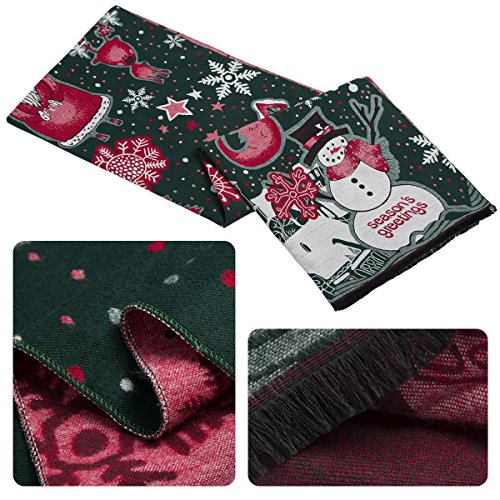 Fashion Scarves Christmas Scarves Pashmina Shawl Cold Weather Scarves and Wraps Two Side