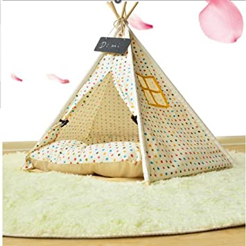 ZRLsly detachable cat dog kennel Tent Small Pets indoor tentm - 50×50  sc 1 st  Amazon.com : dog kennel tent - memphite.com