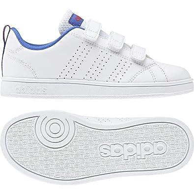 the latest 4e7a8 8aa1d adidas Unisex Kids  Vs Advantage Clean CMF Tennis Shoes, White  Ftwwht Hirblu 000