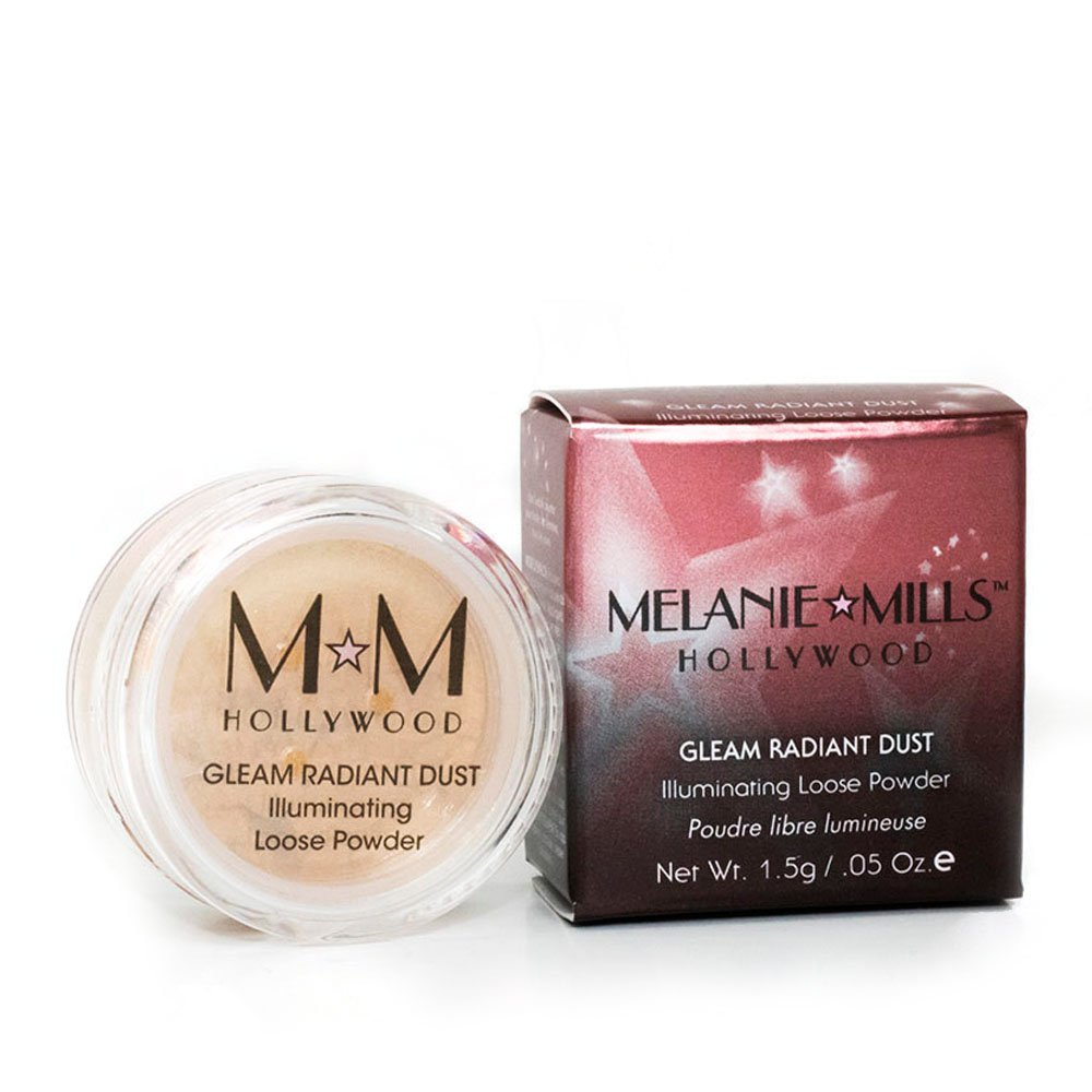 Melanie Mills Hollywood Gleam Radiant Dust Shimmering Loose Powder for Face & Body - Deep Gold, 1.5g Gleam Holding Inc MMH-MRD-004