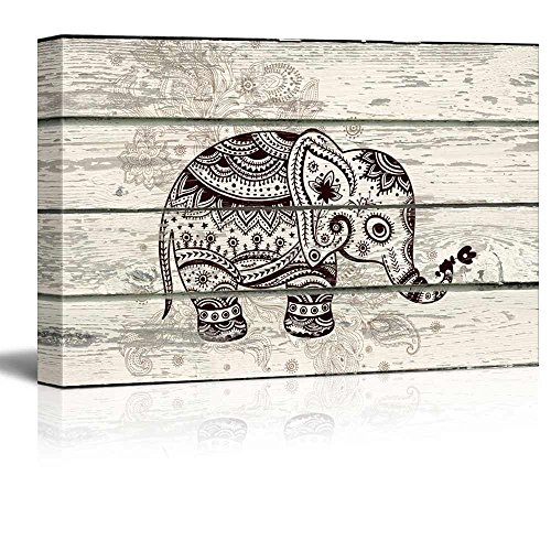 Wall26 Illustration Of A Decorative And Patterned Baby Elephant