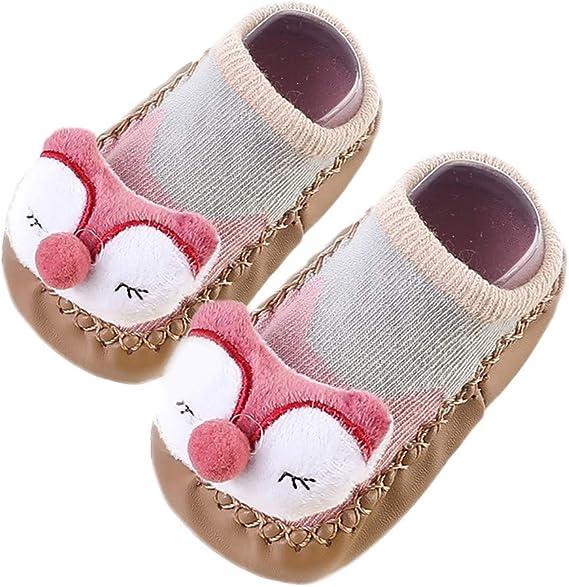 Baby Boy Girl Anti-Slip Boot Socks Cartoon Warm Step Socks Shoes Slipper US