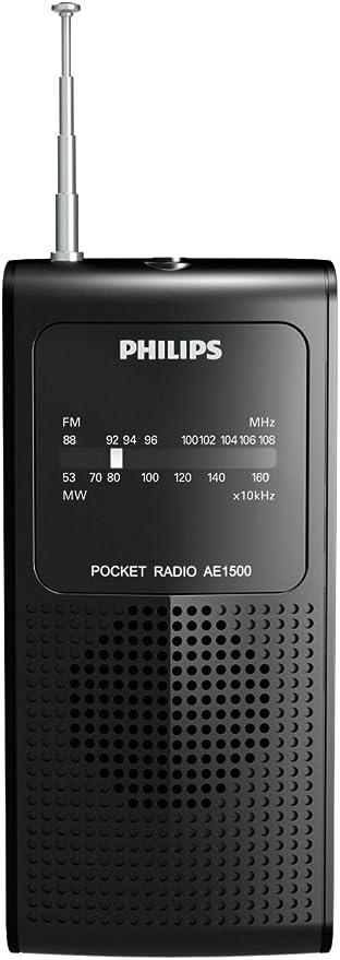 Radio Portatil com ALTO-FALANTE Interno AM/FM AE1500X/78 Preto Philips por PHILIPS
