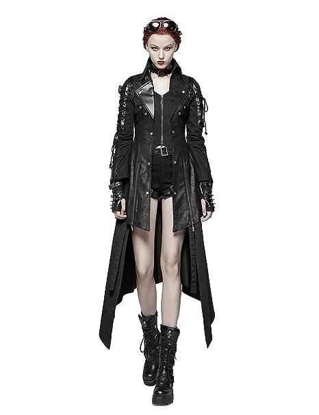Amazon.com: Punk Rave - Chaqueta de piel para mujer: Clothing