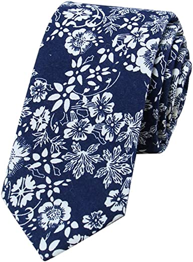 JUNGEN Corbata de Informal para Hombre Corbata Estampada de Flores ...