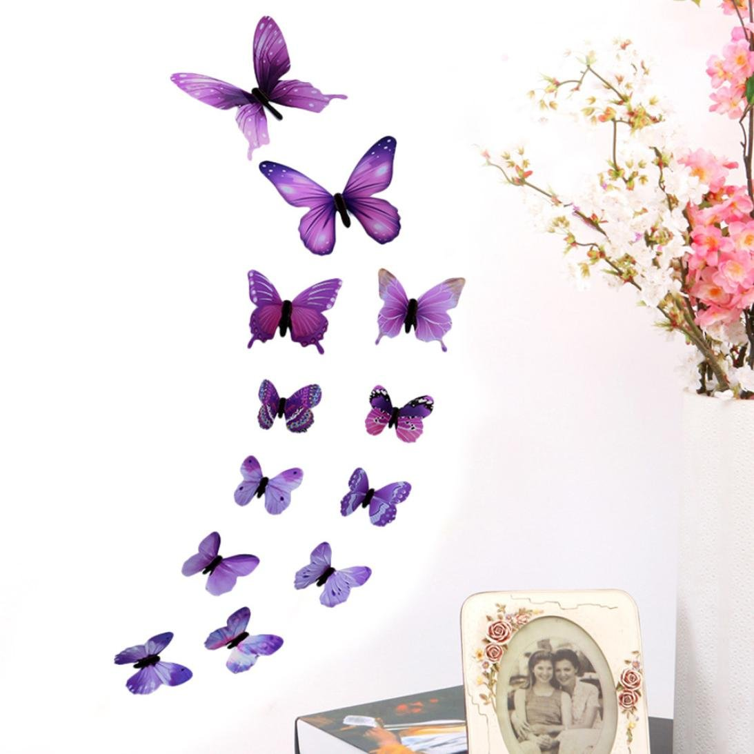 Amazon Com Coohole 3d Butterfly Wall Sticker Stickers Home