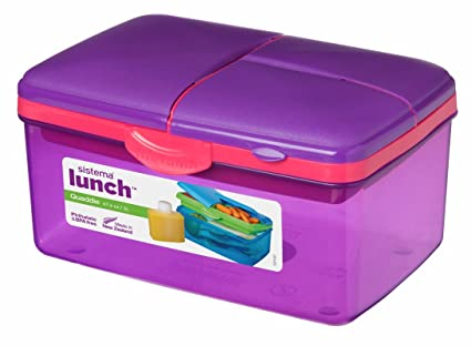 98d90fcbff Sistema Purple Large Plastic Kids School Sandwich Lunch Box with ...