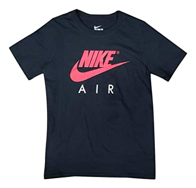 really cheap best best place Amazon.com: Nike Boys Air T-Shirt Black/Red AQ6636-010 ...