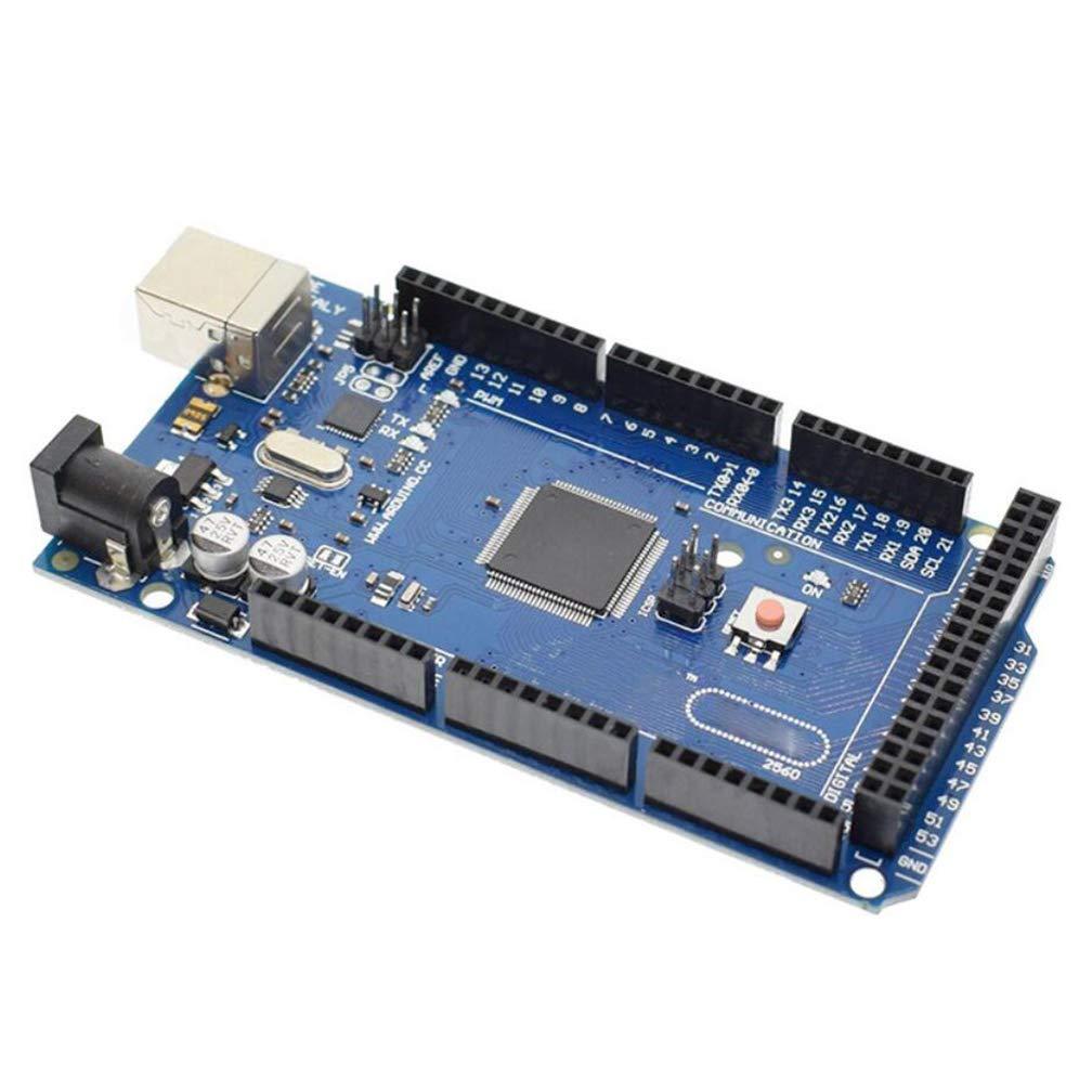 ZYX Microcontrolador, basado en un microcontrolador basado en ATmega2560, Placa de Desarrollo de microcontroladores con Cable USB para Arduino: Amazon.es: ...